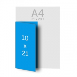 Brochure 21 x 20 cm pliée en 21 x 10 cm