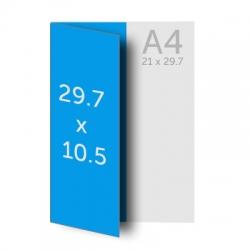 Brochure A4 (21 x 29.7 cm) pliée en A5 (10.5 x 29.7 cm)