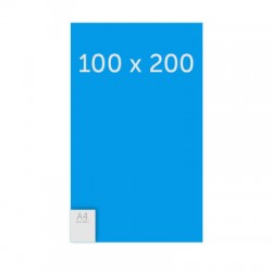 Poster 100 x 200 cm - 235g satin