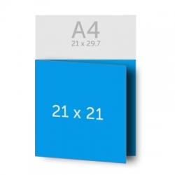 Brochure 42 x 21 cm pliée en 21 x 21 cm 135g, 36 pages, couverture dos collé