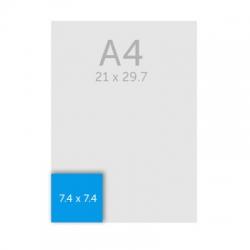 Bloc papier carré A7 (7.4 x 7.4 cm)