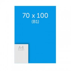 Poster 70 x 100 cm (B1) 235g satin