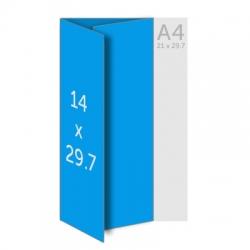Menu restaurant plastifié A3 (29.7x42 cm) ouvert A4 (21x29.7 cm)  fermé