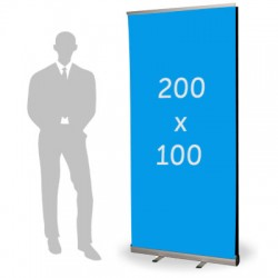 Roll up double format 100 x 200 cm