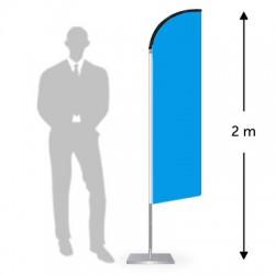 Drapeau forme droite hauteur 2 m
