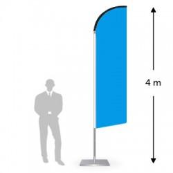 Drapeau forme droite hauteur 4 m
