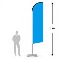 Drapeau forme droite hauteur 5 m