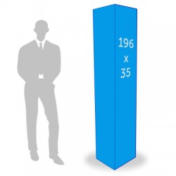 Totem 3 faces 35 x 196 cm