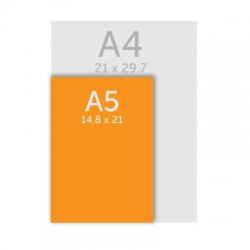 Flyer 14.8 x 21 cm (A5), 350g, vernis selectif