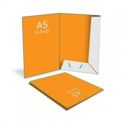 Pochette pour documents A5 (14.8 x 21 cm), vernis selectif