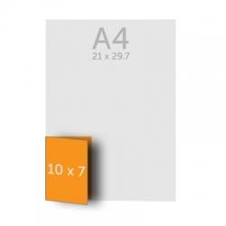 Dépliant 10x14 cm ouvert 10x7 cm fermé, 1 pli, vernis selectif