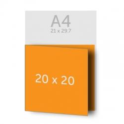 Dépliant 40 x 20 cm ouvert 20 x 20 cm fermé,  1 pli, vernis selectif