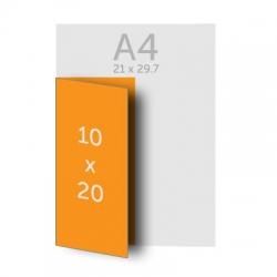 Dépliant 20 x 20 cm plié en 10 x 20 cm 1 pli, vernis selectif