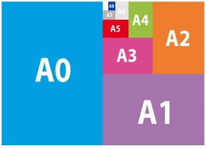 Différents formats standards utilisés dans l'imprimerie